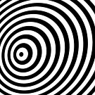 Modern Black & White Geometric Optical Illusion by badbugs