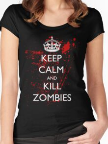 Keep Calm and Kill Zombies 3 Women's Fitted Scoop T-Shirt