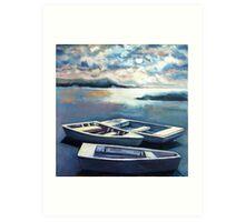 Skiffs at Shipping Creek Landing Art Print