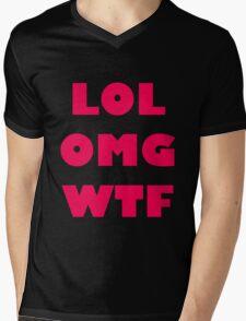 LOL OMG WTF 3 Mens V-Neck T-Shirt