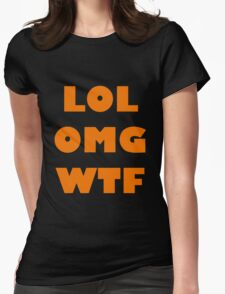 LOL OMG WTF 5 Womens Fitted T-Shirt