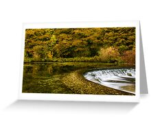 Autumn on the River Lathkill  Greeting Card