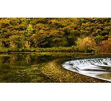 Autumn on the River Lathkill  Photographic Print