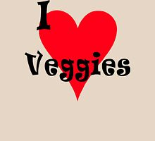 "Vegetarian ""I Love Veggies"" T-Shirt Womens Fitted T-Shirt"