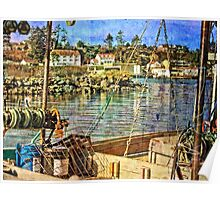 View Across Yaquina Bay Poster