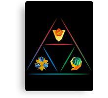 Legend of Zelda - Spirit Stone Triforce Canvas Print