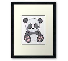Cute Panda Drawing  Framed Print