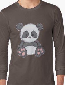 Cute Panda Drawing  Long Sleeve T-Shirt