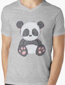 Cute Panda Drawing  Mens V-Neck T-Shirt