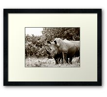 Tough In The Green Framed Print