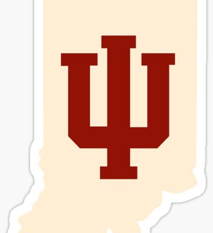 Indiana - Assembly Hall Center Court - Cream and Crimson Sticker
