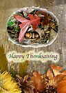 Thanksgiving Greeting Card - Acorn and Oak Leaves  by MotherNature