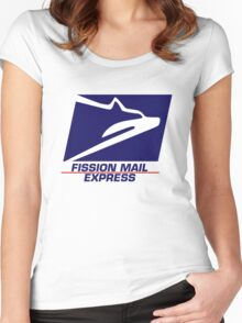 Fission Mail Express Women's Fitted Scoop T-Shirt