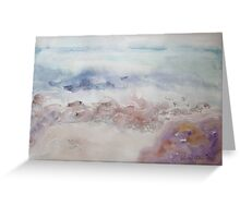 Stone Bay Seascape Greeting Card