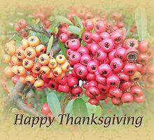 Thanksgiving Greeting Card - Oleander Berries by MotherNature