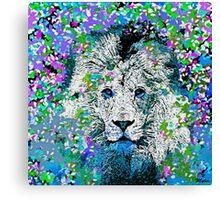 Lion Oil Painting Canvas Print