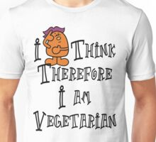 Vegetarian I Think Therefore I Am Vegetarian Unisex T-Shirt
