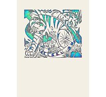 Tiger in Teal  After Franz Marc Photographic Print