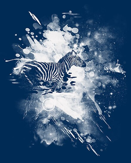 zebra splashed  by frederic levy-hadida