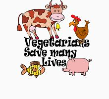 Vegetarians Save Lives Womens Fitted T-Shirt