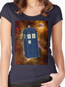 TARDIS in Space II Women's Fitted Scoop T-Shirt