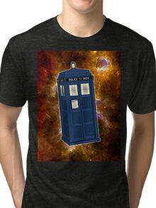 TARDIS in Space II Tri-blend T-Shirt