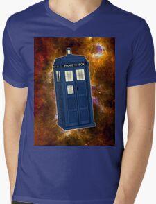 TARDIS in Space II Mens V-Neck T-Shirt