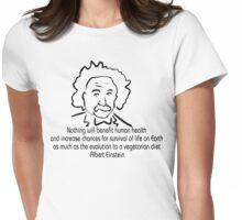 Vegetarian Quote Albert Einstein Womens Fitted T-Shirt