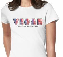 Vegan American As Apple Pie Womens Fitted T-Shirt