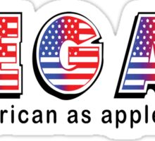 Vegan American As Apple Pie Sticker