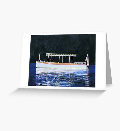 Boat Launch in Calm Water Greeting Card