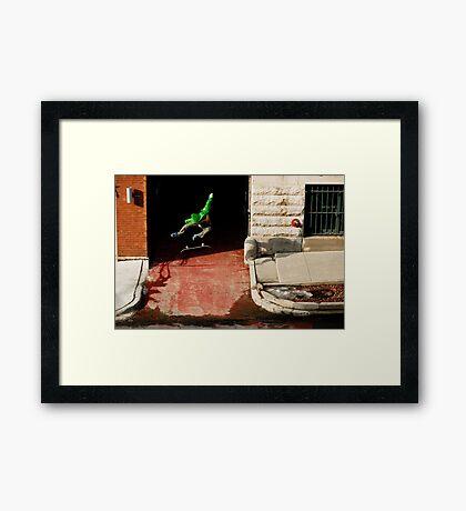 Neen Williams- Kick Flip- photo Ely Phillips Framed Print