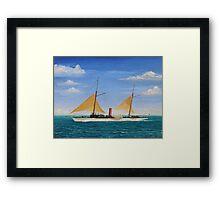 Steamship Yacht Oneida Framed Print