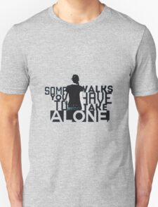 the leader walks alone mocking jay part 2 the hunger games T-Shirt