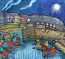 Quay and boats, Aberaeron by Dorian Davies