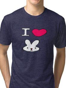 I <3 Bunny Tri-blend T-Shirt