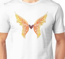 Winged Tribal Heart Unisex T-Shirt