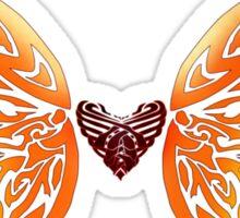 Winged Tribal Heart Sticker