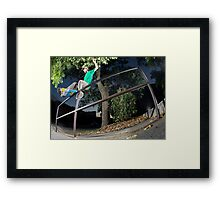 Silas Baxter-Neal - Front Feeble - Photo Sam McGuire Framed Print