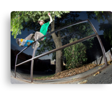 Silas Baxter-Neal - Front Feeble - Photo Sam McGuire Canvas Print