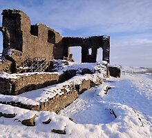 Kendal Castle in Winter by Dave Lawrance