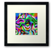 Psychedelic Rainbow Abstract Pattern Framed Print