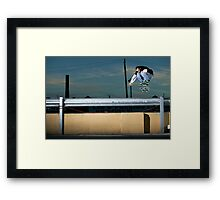 John Methvin - Heelflip - Photo Sam McGuire Framed Print