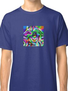 Psychedelic Rainbow Abstract Pattern Classic T-Shirt
