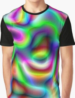 Psychedelic Rainbow Abstract Pattern Graphic T-Shirt