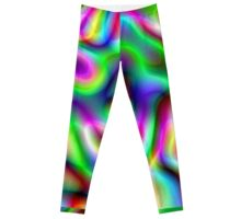Psychedelic Rainbow Abstract Pattern Leggings