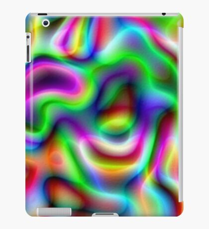 Psychedelic Rainbow Abstract Pattern iPad Case/Skin