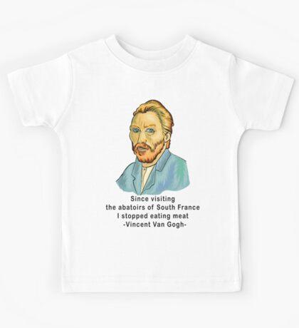 Vegetarian Quote Vincent Van Gogh Kids Tee