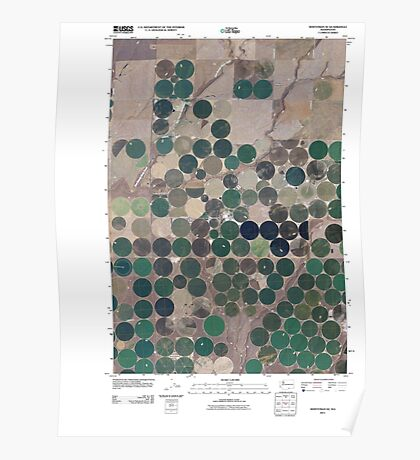 USGS Topo Map Washington State WA Whitstran SE 20110407 TM Poster