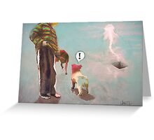 Barking at JellyFish Greeting Card